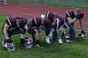 Burnt Hills players say a prayer before the start of the Lansingburgh at Burnt Hills-Ballston Lake high school football game. Friday 09/06/13.  (Mike McMahon / The Record)