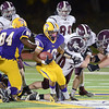 J.S.Carras/The Record   Troy runningback Rayshawn Johnson (10) caries ball against Burnt Hills during first quarter of Section II class A semifinal high school football action Friday, November 1, 2013 at Troy High School in Troy, N.Y..
