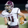 J.S.Carras/The Record  Burnt Hills' Danny Maynard (11) runs after making reception against Troy during third quarter of Section II class A semifinal high school football action Friday, November 1, 2013 at Troy High School in Troy, N.Y..