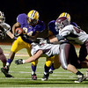 J.S.Carras/The Record  Troy's DiKemm Edmundson (84) carries ball against Burnt Hills during second quarter of Section II class A semifinal high school football action Friday, November 1, 2013 at Troy High School in Troy, N.Y..