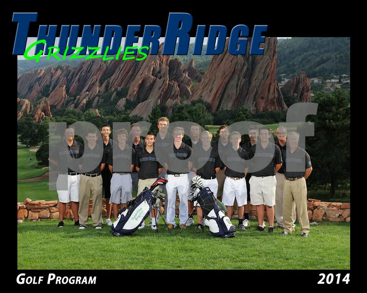 2014 TRHS Golf Program 16x20 Team Photo