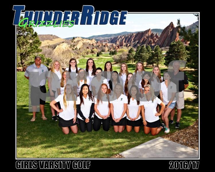2017 Golf Girls TRHS VARSITY Team II 16x20