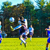 North Middlesex freshman Roody Clemetson kicks the ball during Tuesday's match with Leominster. Nashoba Valley Voice/Ed Niser