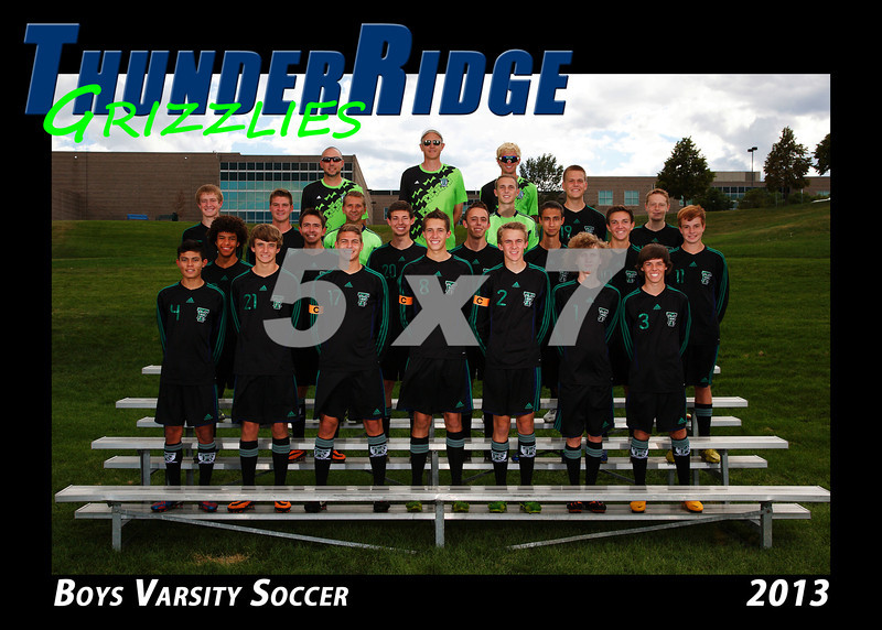 2013 TRHS Soccer Boys Varsity 5x7 Team Photo