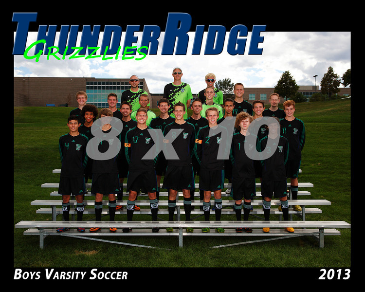 2013 TRHS Soccer Boys Varsity 16x20 Team Photo