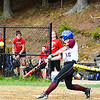 Groton-Dunstable second baseman connects during Friday's loss. Nashoba Valley Voice/Ed Niser