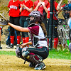 Groton-Dunstable catcher Bridget O'Malley awaits the pitch in the middle innings of Friday's game. <br /> Nashoba Valley Voice/Ed Niser