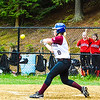 Groton-Dunstable's Whitney Ellis connects during Friday's loss to Hudson. Nashoba Valley Voice/Ed Niser