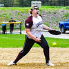 Groton-Dunstable pitcher Sarah Woods delivers during Friday afternoon's loss to Hudson. Nashoba Valley Voice/Ed Niser