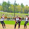 Groton-Dunstable second baseman Laura Bieren calls off pitcher Sarah Woods and first baseman Helen Kilian.  Nashoba Valley Voice/Ed Niser
