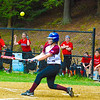 Groton-Dunstable's Whitney Ellis take a hack during Friday's loss to Hudson.<br /> Nashoba Valley Voice/Ed Niser
