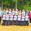 Members of the Groton-Dunstable softball team pose for a photo after Friday's loss. Nashoba Valley Voice/Ed Niser