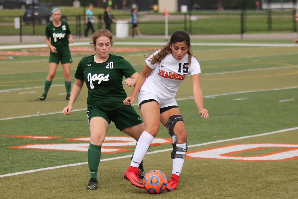 . Dearborn High welcomed in Allen Park for a non-league game on Tuesday afternoon and knocked off the Jaguars by a score of 8-0. Photo by Ryan Dickey - For Digital First Media