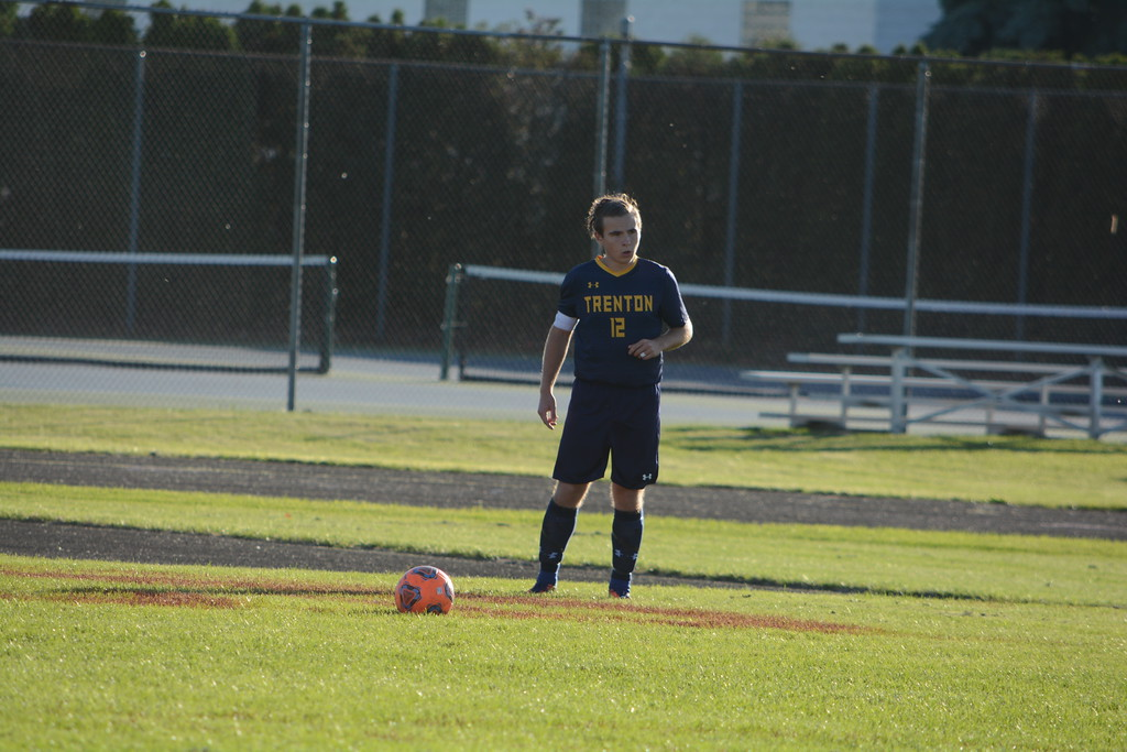 . Trenton headed to Riverview for the first round of Division 2, District 21 soccer on Tuesday and  defeated the Pirates 1-0. Photo by Von Lozon - For The News-Herald