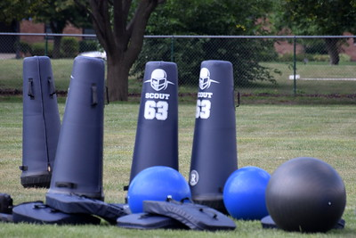 Allen Park Cabrini officially kicked off the MHSAA football season with an afternoon practice on Monday. The Monarchs will host night games this season, as lights were installed at their field this summer. (Photo Gallery by Frank Wladyslawski)