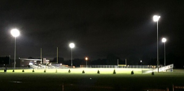 . Allen Park Cabrini officially kicked off the MHSAA football season with an afternoon practice on Monday. The Monarchs will host night games this season, as lights were installed at their field this summer. (Photo courtesy of Cabrini Athletic Department)