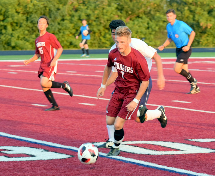 Gabe Parks and the Riverview Gabriel Richard Pioneers welcomed in rival Allen Park Cabrini on Tuesday night and handed the Monarchs a 4-2 defeat. Frank Wladyslawski - Digital First Media