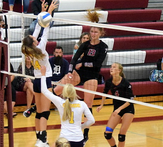 Riverview Gabriel Richard welcomed in rival Allen Park Cabrini on Wednesday night and defeated the Monarchs 3-1 (19-25, 25-18, 25-10,  25-17). Frank Wladyslawski - Digital First Media