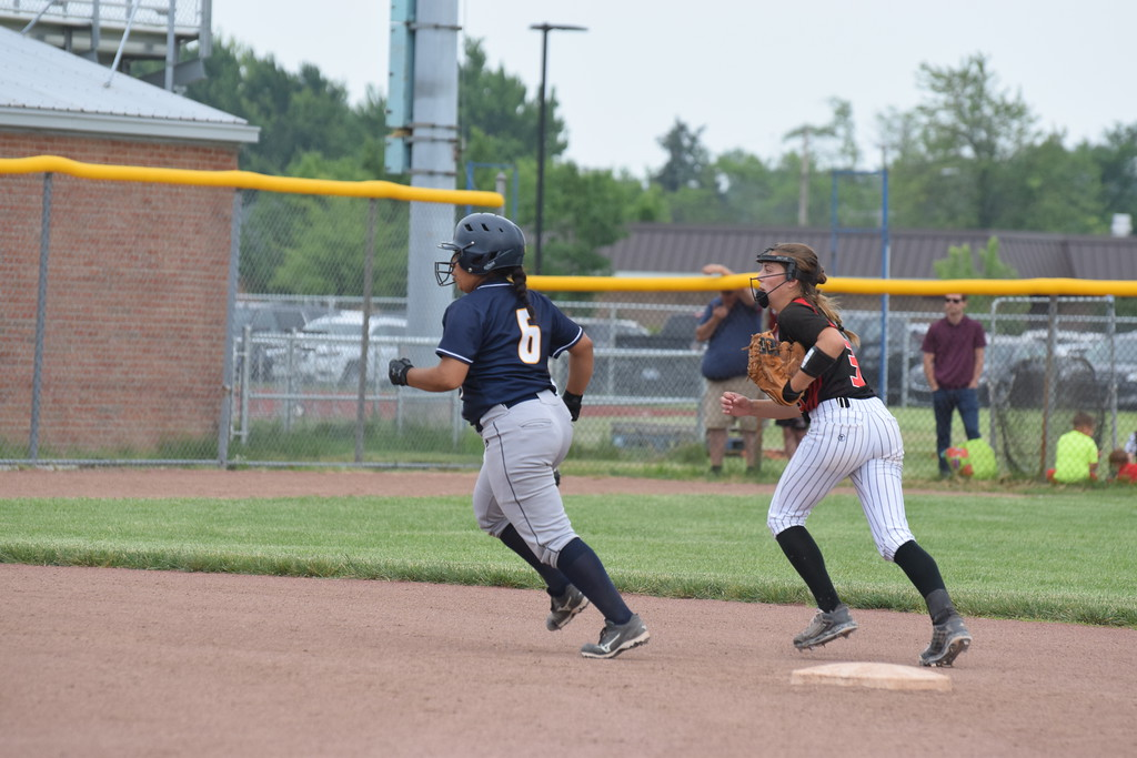 . Allen Park Cabrini took on Clinton on Tuesday in a Division 3 state quarterfinal at Southgate Anderson. The Monarchs fell by a score of 5-1 against the Redskins. Photo by Anna Lisa Fedor - For The News-Herald