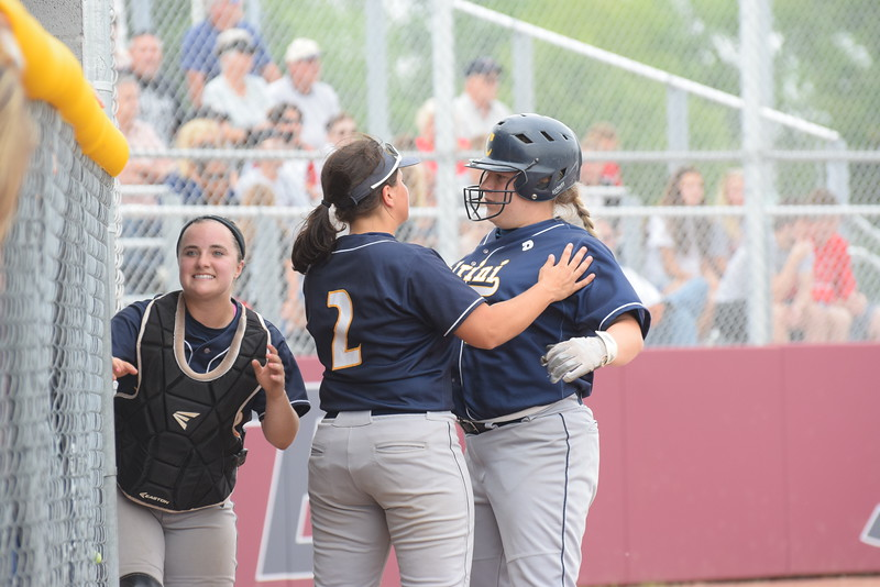 Allen Park Cabrini took on Clinton on Tuesday in a Division 3 state quarterfinal at Southgate Anderson. The Monarchs fell by a score of 5-1 against the Redskins. Photo by Anna Lisa Fedor - For The News-Herald