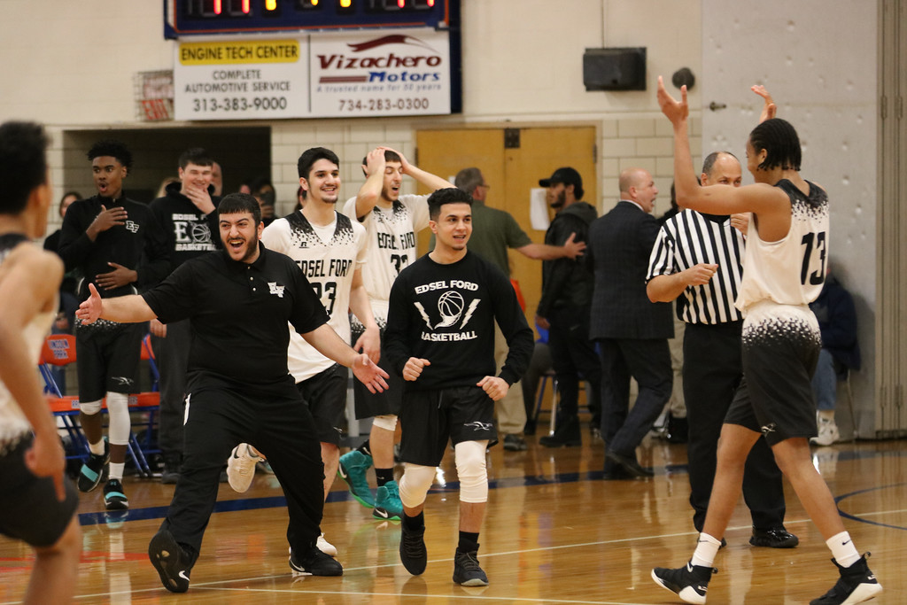 . The Class A, District 27 semifinals were held on Wednesday at Lincoln Park. Edsel Ford defeated Allen Park 44-41 in overtime and Melvindale topped Taylor Truman 58-42. Photo by Jack VanAssche - For Digital First Media