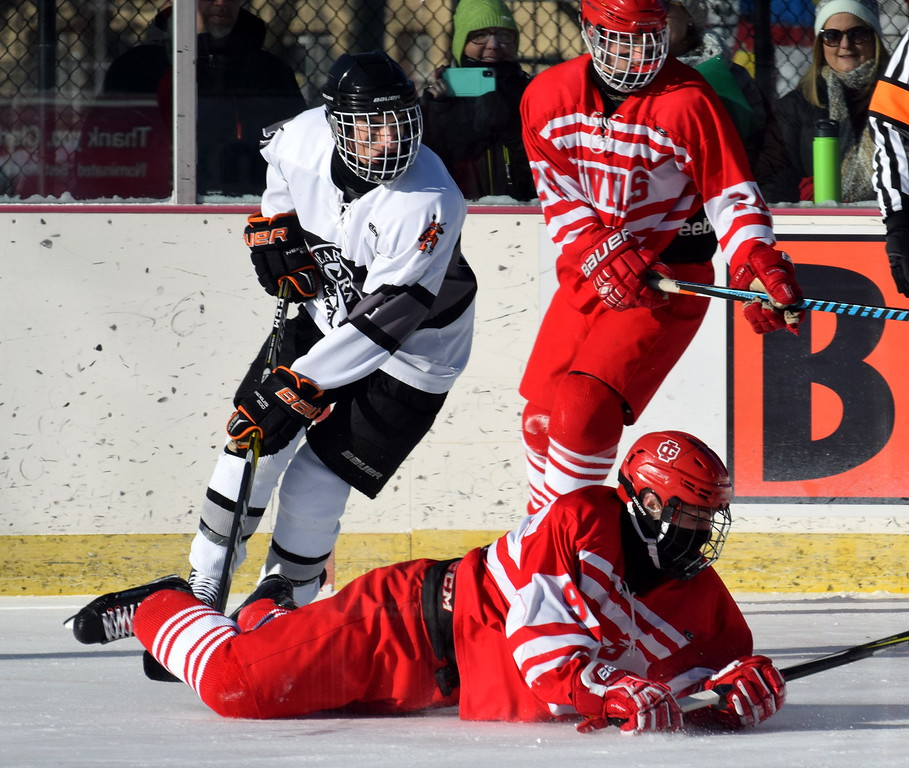. Grosse Ile took on Dearborn Unified on Saturday morning in an outdoor game at Clark Park in Detroit. The Red Devils came away with a 3-1 victory over the DU squad. Photo by Frank Wladyslawski -  Digital First Medial