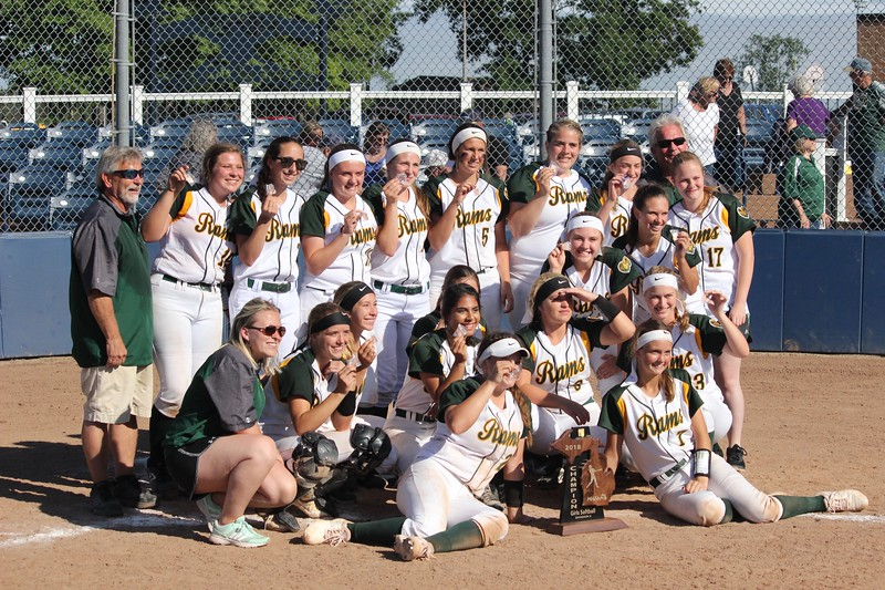 Flat Rock defeated Milan by a score of 3-2 in nine innings on Monday at Carleton Airport for the Division 2, Region 14 championship. In the semifinals, the Rams knocked Ann Arbor Gabriel Richard 11-3. Photo by Ricky Lindsay - For The News-Herald