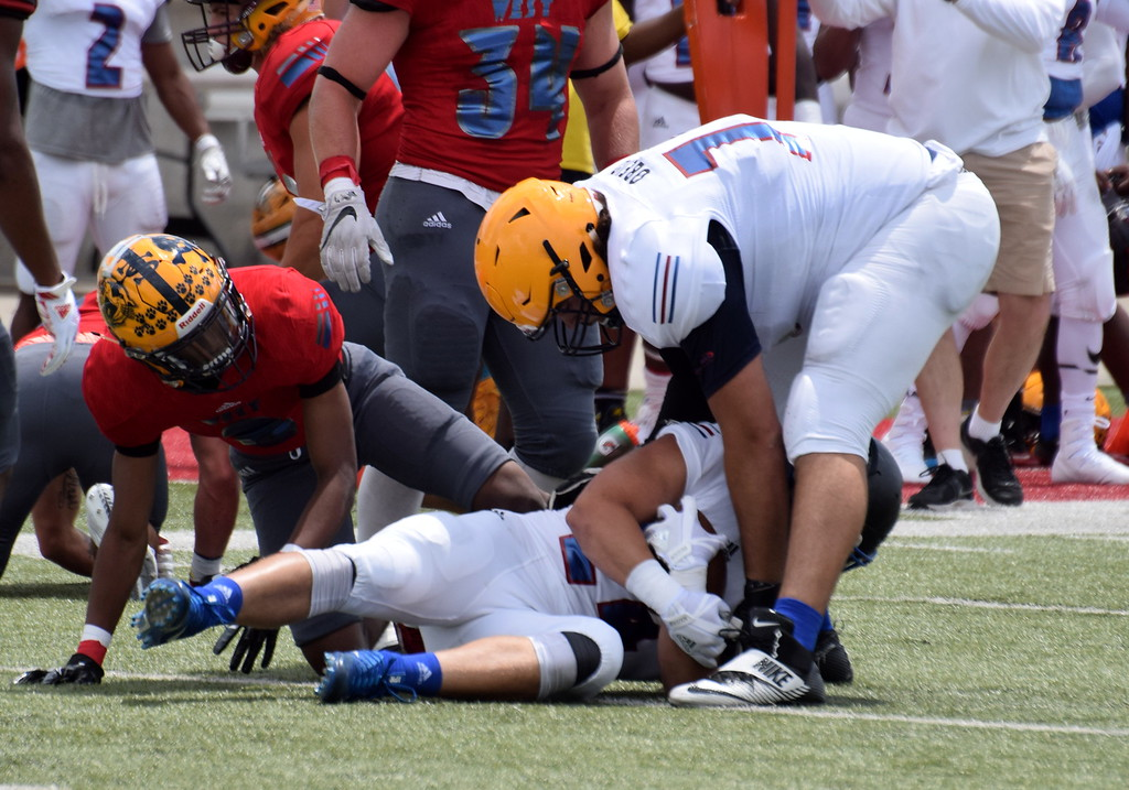 . The East team defeated the West by a score of 21-0 on Saturday at Saginaw Valley State University in the 2017 Michigan High School Football Coaches Association All-Star Game. (News-Herald Photo Gallery by Frank Wladyslawski)