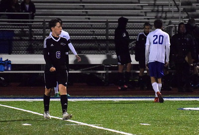 Gibraltar Carlson hosted second-place Woodhaven in the Downriver League finale on Wednesday night. The Marauders defeated the Warriors 3-0 and finished the DRL season undefeated. Photo by Frank Wladyslawski - For The News-Herald