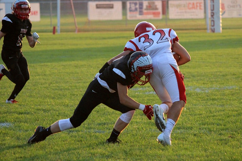 Grosse Ile traveled to New Boston Huron on Friday night and defeated the Chiefs by a score of 35-7. The Red Devils improved to 4-0 overall and 3-0 in the Huron League. Ricky Lindsay - For Digital First Media