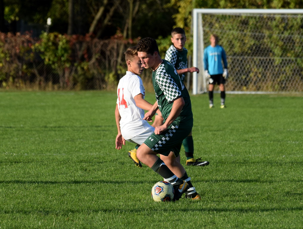 . Host Grosse Ile defeated Ann Arbor Gabriel Richard 2-0 in the Division 3, District 38 championship game on Friday afternoon. Photo by Frank Wladyslawski - The News-Herald