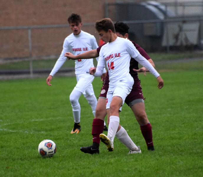 Grosse Ile welcomed in Riverview on Wednesday afternoon and defeated the Pirates 8-0. The Red Devils wrapped up the regular season undefeated and ranked No. 1 the state in Division 3. Photo by Frank Wladyslawski - The News-Herald