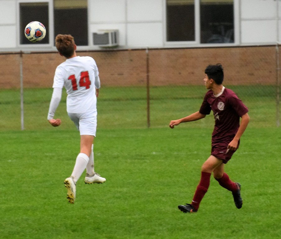 . Grosse Ile welcomed in Riverview on Wednesday afternoon and defeated the Pirates 8-0. The Red Devils wrapped up the regular season undefeated and ranked No. 1 the state in Division 3. Photo by Frank Wladyslawski - The News-Herald
