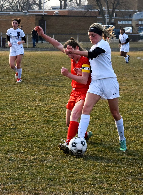 . New Boston Huron traveled to Riverview on Wednesday night and defeated the Pirates by a score of 4-2 in what was the Huron League opener. Photo by Alex Muller - For The News-Herald