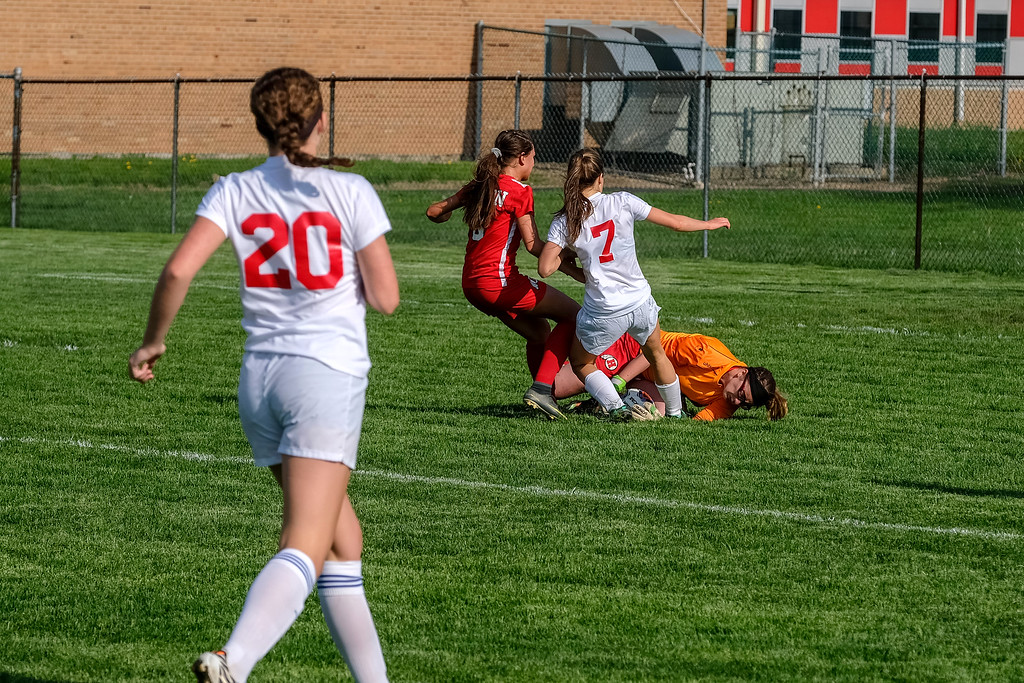 . Grosse Ile welcomed in New Boston Huron on Wednesday afternoon and knocked off the Chiefs by a score of 5-0. Photo by Matthew Thompson - For The News-Herald
