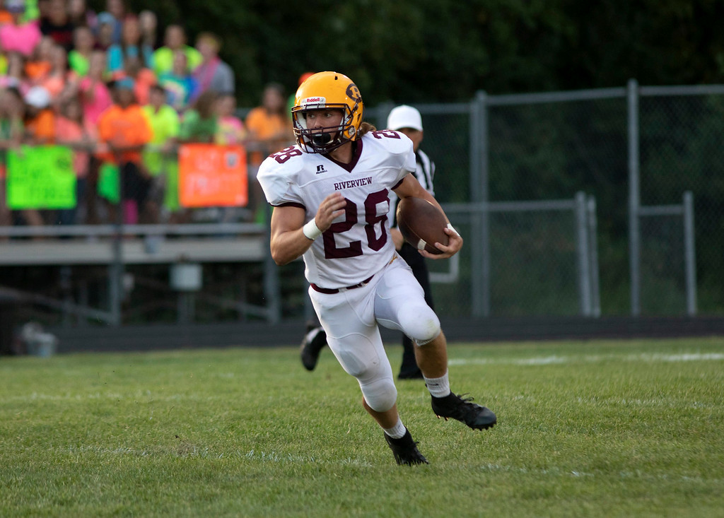 . Riverview headed to Flat Rock on Thursday night and defeated the Rams by a score of 24-10 in the Huron League opener. Joshua Tufts - Digital First Media