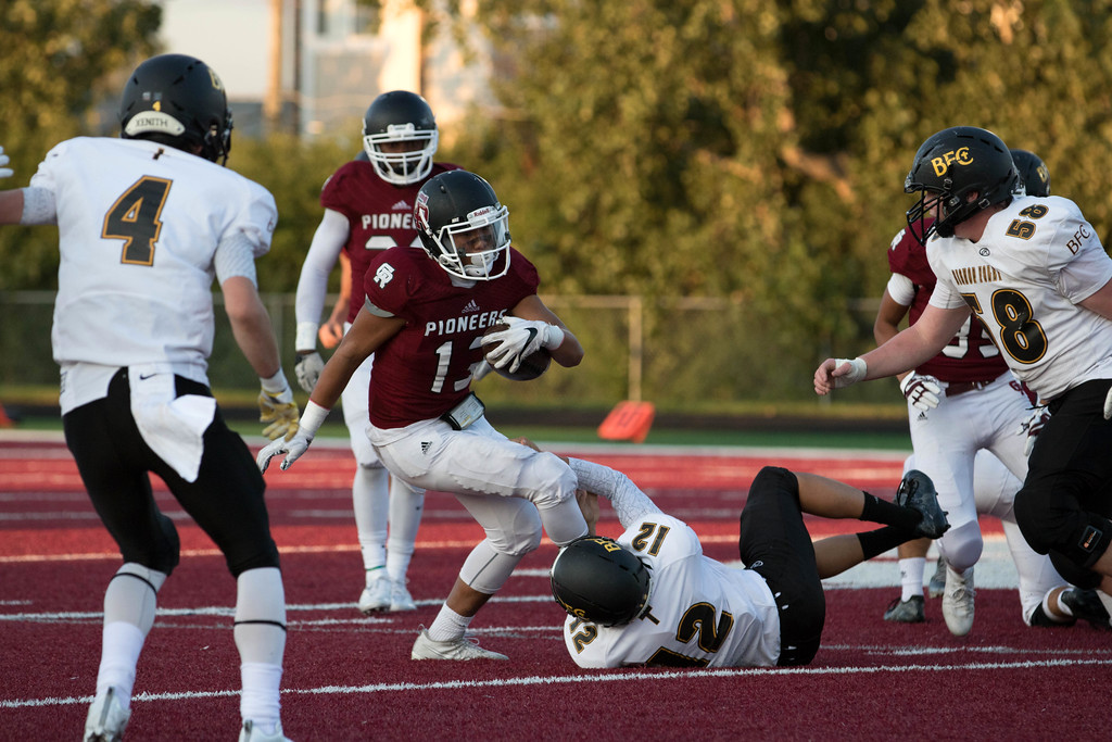 Riverview Gabriel Richard hosted Madison Heights Bishop Foley on Friday night and dominated the Ventures 56-14. Photo by Jack VanAssche - For The News-Herald