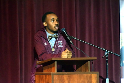 A total of 15 River Rouge seniors signed on Wednesday to play football at the next level. The players were honored with a ceremony at the school. Photo by Frank Wladyslawski - The News-Herald
