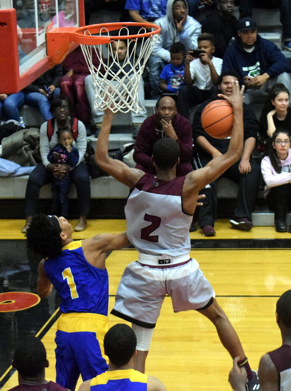 . River Rouge defeated St. Clair Shores South Lake 75-32 in the Class B, Region 12 semifinals on Monday night at Livonia Clarenceville. Photo by Frank Wladyslawski - Digital First Media
