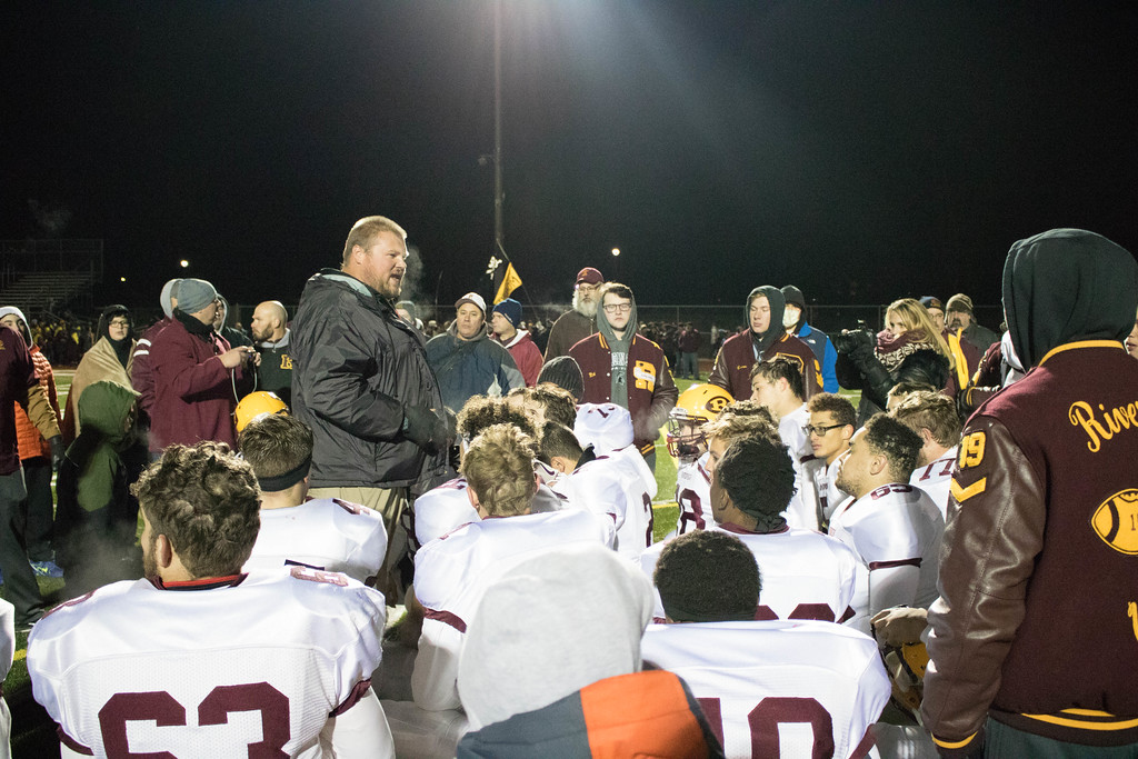 . Riverview headed to Dearborn Divine Child on Friday night and defeated the Falcons 36-31 for a Division 3 Regional title.  Photo by Jack VanAssche - For Digital First Media