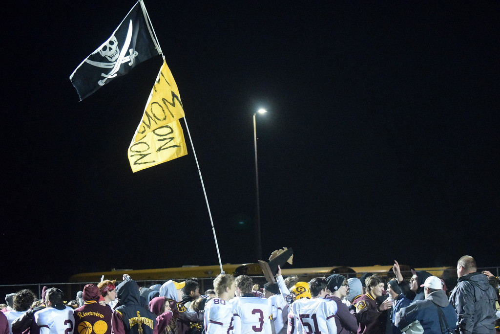 . Riverview headed to Dearborn Divine Child on Friday night and defeated the Falcons 36-31 for a Division 3 Regional title.  Photo by Frank Wladyslawski - Digital First Media