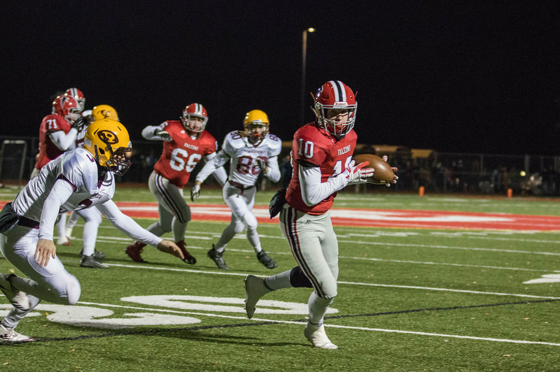Riverview headed to Dearborn Divine Child on Friday night and defeated the Falcons 36-31 for a Division 3 Regional title.  Photo by Jack VanAssche - For Digital First Media