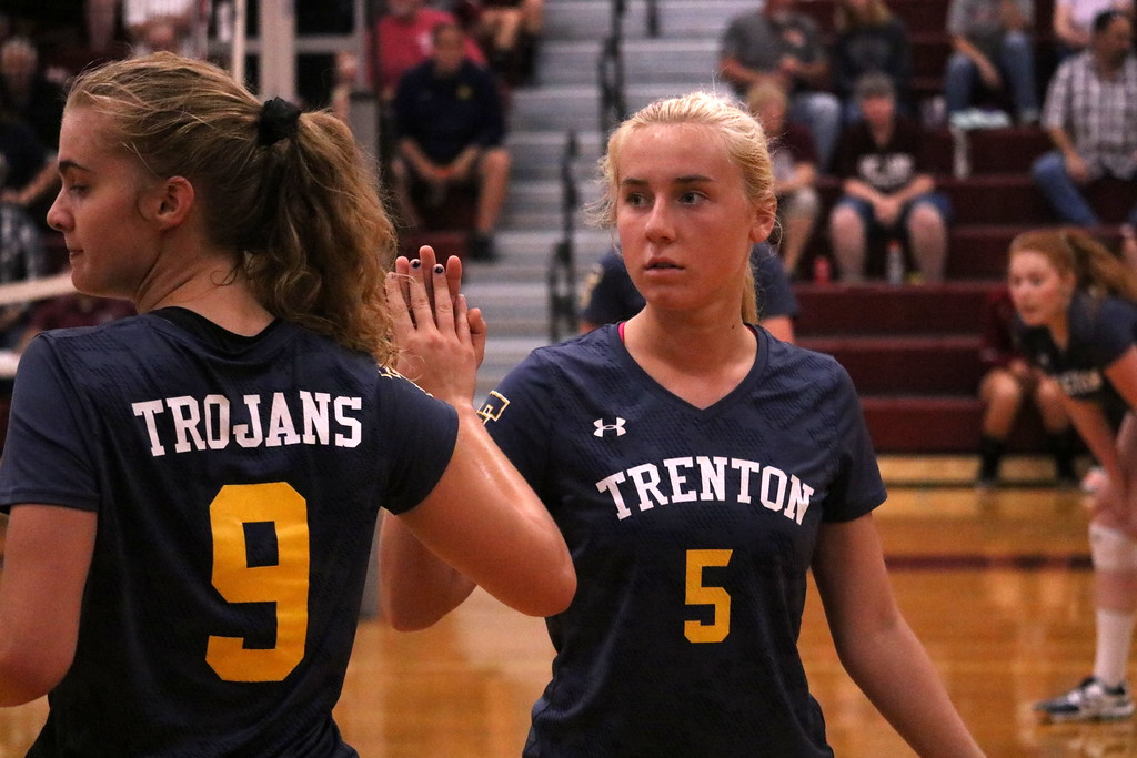 . Trenton headed to Southgate Anderson on Tuesday night and swept the host Titans 3-0. Photo by Ryan Dickey - For The News-Herald
