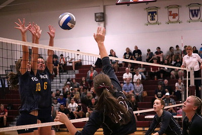 Trenton headed to Southgate Anderson on Tuesday night and swept the host Titans 3-0. Photo by Ryan Dickey - For The News-Herald