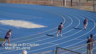3-31-16 vs El Cap 4x100