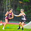 Groton-Dunstable's Jordan Wynn pressures an Algonquin attacker during Tuesday's win. Nashoba Valley Voice/Ed Niser
