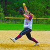 Groton-Dunstable defeated Gardner, 3-2, in 10 innings Monday. Crusader senior pitcher Sarah Woods recorded her 500th career strikeout. Nashoba Valley Voice/Ed Niser