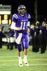 Quarterback Jack Milas (11) of Rolling Meadows is introduced before the start of the game.