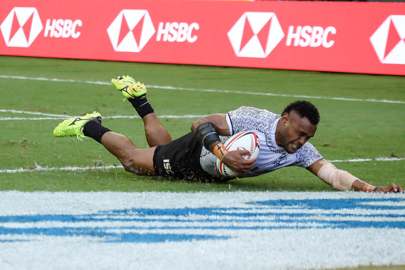 Champions of 2018 HSBC Rugby 7s, Fiji Vs New Zealand, on 29th April 2018, at National Stadium, Singapore. Photo by Sanketa Anand/SportSG