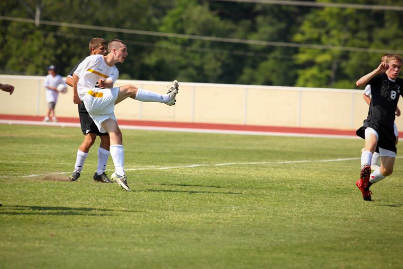 Garrett Steele drills a hard shot to score first goal against Jamestown